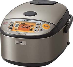 Zojirushi NP-HCC10XH Induction Heating System Rice Cooker and Warmer