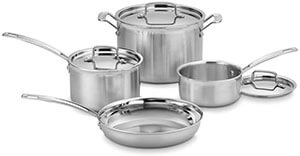 CuisinartMCP-7NMultiCladProStainless-SteelCookingpansSet